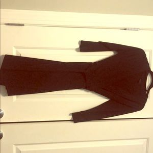 Ann Taylor navy blue wrap dress